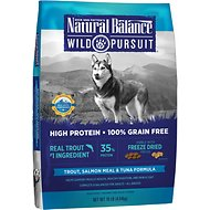 Natural Balance Wild Pursuit Trout, Salmon Meal & Tuna Formula Grain-Free Dry Dog Food, 10-lb bag