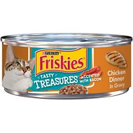 Friskies Tasty Treasures Chicken Dinner in Gravy Canned Cat Food, 5.5-oz, case of 24