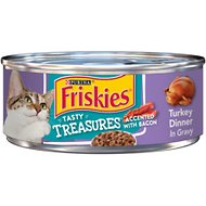 Friskies Tasty Treasures Turkey Dinner in Gravy Canned Cat Food, 5.5-oz, case of 24