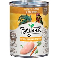 Purina Beyond Chicken, Carrot & Pea Recipe Ground Entrée Grain-Free Canned Dog Food, 13-oz, case of 12