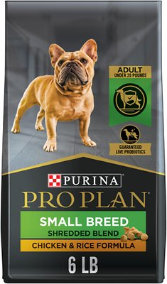 Purina Pro Plan Savor Adult Shredded Blend Small Breed Chicken & Rice  Formula Dry Dog Food, 34-lb bag