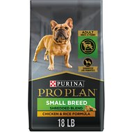 Purina Pro Plan Savor Adult Shredded Blend with Probiotics Small Breed Chicken & Rice Formula Dry Dog Food, 18-lb bag