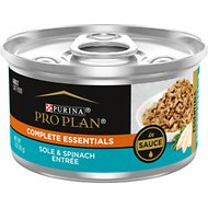 Purina Pro Plan Savor Adult Sole Entrée with Spinach Braised in Sauce Canned Cat Food, 3-oz, case of 24