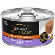 Purina Pro Plan Grain-Free Classic Turkey & Vegetable Entrée Canned Cat Food, 3-oz, case of 24