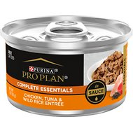 Purina Pro Plan Savor Chicken, Tuna & Wild Rice Entree in Sauce Canned Cat Food, 3-oz, case of 24