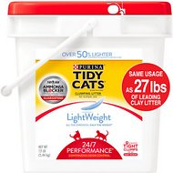 Tidy Cats LightWeight 24/7 Performance Clumping Cat Litter, 12-lb pail