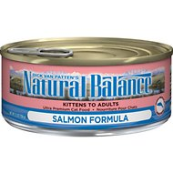 Natural Balance Ultra Premium Salmon Formula Canned Cat Food, 5.5-oz, case of 24