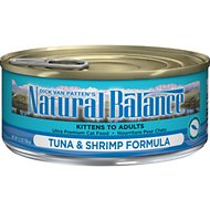 Natural Balance Ultra Premium Tuna with Shrimp Formula Canned Cat Food, 5.5-oz, case of 24