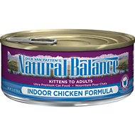 Natural Balance Ultra Premium Indoor Chicken Formula Canned Cat Food, 5.5-oz, case of 24
