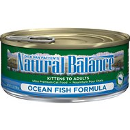 Natural Balance Ultra Premium Ocean Fish Formula Canned Cat Food, 5.5-oz, case of 24