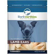 Barkworthies Lamb Ears Dog Treats, 10 count