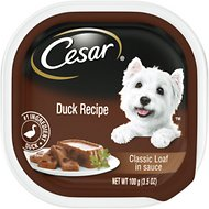 Cesar Classics Pate with Duck Dog Food Trays, 3.5-oz, case of 24