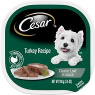 Cesar Classics Pate with Turkey Dog Food Trays, 3.5-oz, case of 24