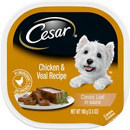 Cesar Classics Pate with Chicken & Veal Dog Food Trays, 3.5-oz, case of 24