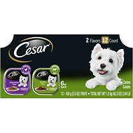 Cesar Classic Loaf in Sauce Top Sirloin & Grilled Chicken Flavors Variety Pack Dog Food Trays, 3.5-oz, case of 12