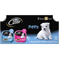 Cesar Puppy Chicken & Beef & Lamb & Rice Variety Pack Dog Food Trays, 3.5-oz, case of 12