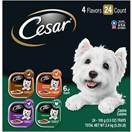 Cesar Poultry Variety Pack with Real Chicken, Turkey & Duck Dog Food Trays, 3.5-oz, case of 24