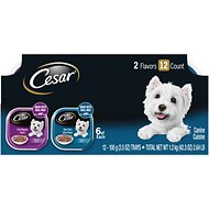 Cesar Filets in Gravy Beef Multipack Dog Food Trays, 3.5-oz, case of 12