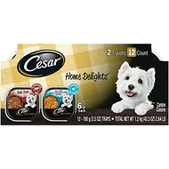 Cesar Home Delights Slow Cooked Chicken & Vegetables & Beef Stew Variety Pack Dog Food Trays, 3.5-oz, case of 12