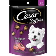 Cesar Softies Filet Mignon Dog Treats, 6.7-oz bag