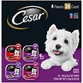 Cesar Classic Loaf in Sauce Beef Recipe, Filet Mignon, Grilled Chicken, & Porterhouse Steak Flavors Variety Pack Dog Food Trays