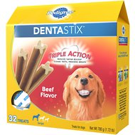 Pedigree Dentastix Large Beef Flavor Dog Treats, 32 count