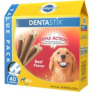 Pedigree Dentastix Large Beef Flavor Dog Treats, 40-count