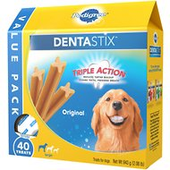 Pedigree Dentastix Large Original Dog Treats, 40 count