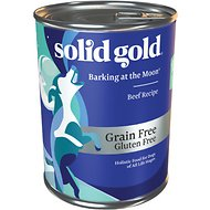 Solid Gold Barking at the Moon 95% Beef Recipe Grain-Free Canned Dog Food, 13.2-oz, case of 12
