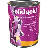 Solid Gold Howling at the Stars Turkey, Ocean White Fish & Sweet Potato Recipe Canned Dog Food, 13.2-oz, case of 12