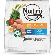 Nutro Wholesome Essentials Large Breed Puppy Farm Raised Chicken, Brown Rice & Sweet Potato Recipe Dry Dog Food, 30-lb bag