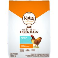 Nutro Wholesome Essentials Indoor Adult Farm-Raised Chicken & Brown Rice Recipe Dry Cat Food, 14-lb bag
