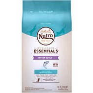 Nutro Wholesome Essentials Indoor Adult White Fish & Brown Rice Recipe Dry Cat Food, 3-lb bag