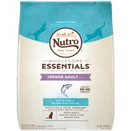 Nutro Wholesome Essentials Indoor Adult White Fish & Brown Rice Recipe Dry Cat Food, 14-lb bag