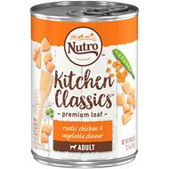 Nutro Adult Kitchen Classics Rustic Chicken & Vegetable Dinner Canned Dog Food, 12.5-oz, case of 12