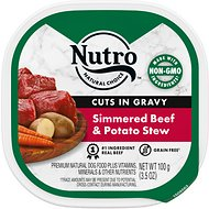 Nutro Adult Petite Eats Signature Beef & Potato Entree Cuts In Gravy Dog Food Trays, 3.5-oz, case of 24
