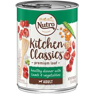 Nutro Adult Kitchen Classics  Healthy Dinner With Lamb & Vegetables Canned Dog Food, 12.5-oz, case of 12
