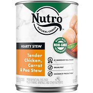 Nutro Hearty Stew Tender Chicken, Carrot & Pea Stew Grain-Free Canned Dog Food, 12.5-oz, case of 12