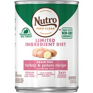 Nutro Limited Ingredient Diet Premium Loaf Turkey & Potato Grain-Free Canned Dog Food, 12.5-oz, case of 12