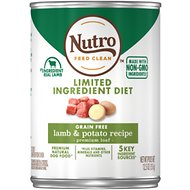 Nutro Limited Ingredient Diet Lamb & Potato Recipe Adult Grain-Free Canned Dog Food, 12.5-oz, case of 12