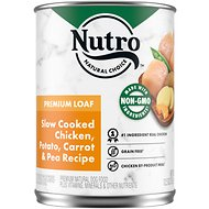 Nutro Premium Loaf Slow Cooked Chicken, Potato, Carrot & Pea Recipe Grain-Free Canned Dog Food, 12.5-oz, case of 12