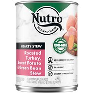 Nutro Adult Hearty Stews Chunky Chicken & Turkey Stew Chunks In Gravy Canned Dog Food, 12.5-oz, case of 12