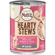 Nutro Senior Hearty Stews Grandpa's Country Stew With Chicken & Turkey Chunks In Gravy Canned Dog Food, 12.5-oz, case of 12