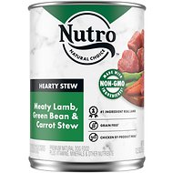 Nutro Adult Hearty Stews Meaty Lamb, Green Bean & Carrot Stew Grain-Free Canned Dog Food, 12.5-oz, case of 12