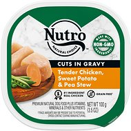 Nutro Adult Petite Eats Chef Inspired Chicken Entree Cuts In Gravy Dog Food Trays, 3.5-oz, case of 24