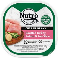Nutro Grain-Free Roasted Turkey, Potato & Pea Stew Cuts in Gravy Adult Dog Food Trays, 3.5-oz, case of 24