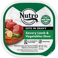 Nutro Grain-Free Savory Lamb & Vegetables Stew Cuts in Gravy Adult Dog Food Trays, 3.5-oz, case of 24