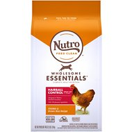Nutro Wholesome Essentials Hairball Control Adult Farm-Raised Chicken & Brown Rice Recipe Dry Cat Food, 3-lb bag