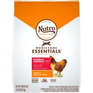Nutro Wholesome Essentials Hairball Control Adult Farm-Raised Chicken & Brown Rice Recipe Dry Cat Food, 14-lb bag