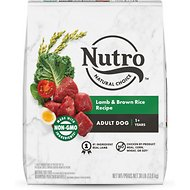 Nutro Wholesome Essentials  Adult Pasture Fed Lamb & Rice Recipe Dry Dog Food, 30-lb bag